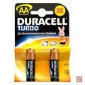Батарейки алкалиновые AA/LR6 DURACELL Turbo  BP2  /40
