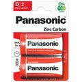 Батарейки солевые D/R20 PANASONIC Zinc Carbon BP2  /24
